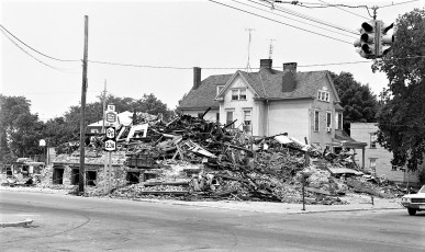 Demolition of St. Mary's Elementary after fire Hudson 1973 (4)