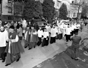 St. Mary's Academy laying and blessing the cornerstone May 6 1956 (1)