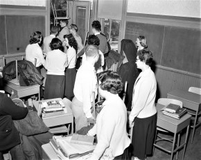 St. Mary's School Moving Day Jan. 7 1957 (1)