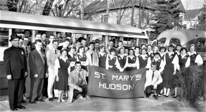 St. Mary's Students going to Albany May Day Hudson 1956