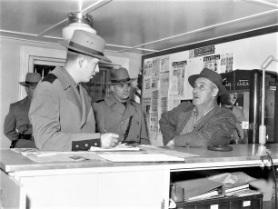 John Winter with State Police Sgt. Hillfrank 1960