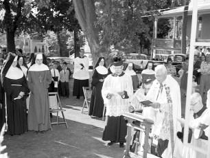 St. Patrick's Parish School Blessing of new school Catskill Sept. 1962 (2)