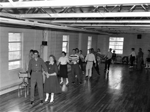 Roller Skating at the Churchtown Firehouse 1960 (2)