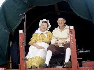 Bicentennial Wagon Train stop at Clermont Farms 1976 (3)