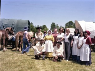 Bicentennial Wagon Train stop at Clermont Farms 1976 (4)