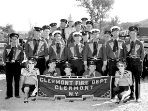 Clermont Fire Dept. at Col. Cty. Parade in Canaan 1956