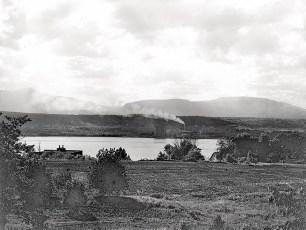Cement plant smoke 1949
