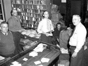 G'town Post Office Leland Lasher, Walt Miller, Ray Roberts, Don Rockefeller, Harold Denegar