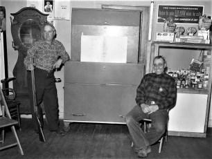G'town Voting Machine guarded by Guy Rockefeller & Earl Helsley 1954