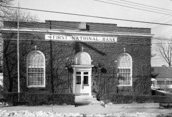 The First National Bank opening G'town Mar. 1955 (1)