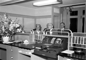 The First National Bank opening G'town Mar. 1955 (2)