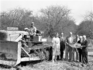 Compton Hover ground breaking for spec house G'town June 1960 (2)