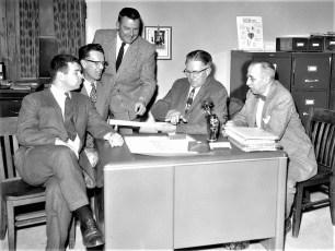 G'town Chamber of Comm. Dr. Shrallow, H. Englekirk, R. Crawford, L. Boice, A. von der Osten 1961