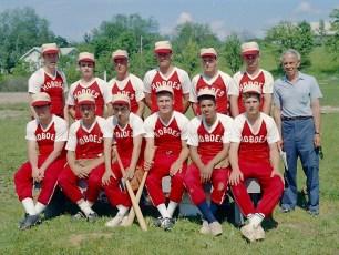 Ham Klawson's Hoboes Baseball Team G'town 1969