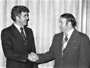 Supervisor George Sharpe with Senator Bruno G'town 1978