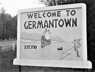 Welcome to G'town sign 9G North near present day Sunset Circle 1976