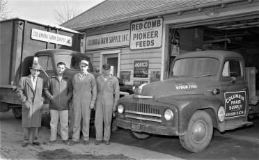 Columbia Farm Supply Union Tpke across from Greenport School 1957