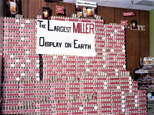 Frank Graziano Miller High Life Display at Shop Rite Greenport 1971