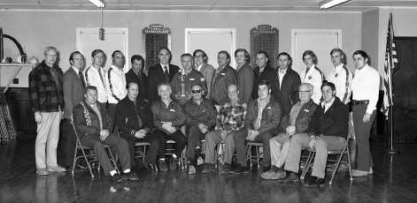 Greenport Rescue Sq. Members with Assemblyman Larry Lane 1972