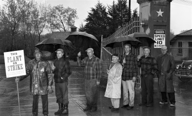 Lone Star Cement Workers on Strike Greenport 1954