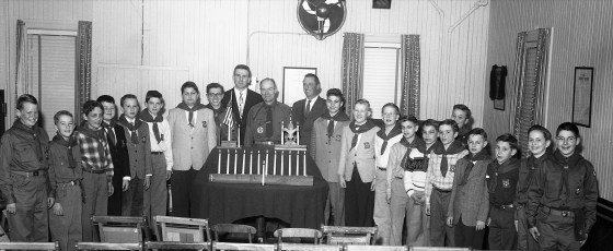 Boy Scouts meet at American Legion Hall Red Hook 1956