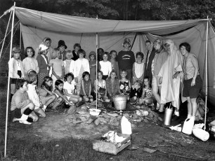 Red Hook Girl Scouts at Wilcox Park 1968