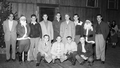 Children's Xmas Party with 2 Santas Philmont 1954 (2)