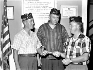 Philmont Am. Legion Post Bob McLean, Fred Potts, Herbert Near new Commander 1959