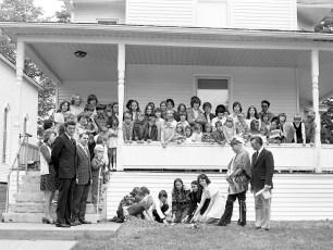 Philmont Methodist Church Sunday School planting beans 1976
