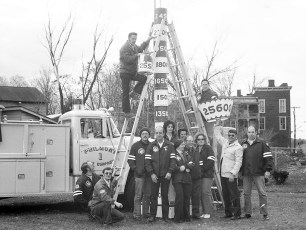 Philmont Rescue Squad Topping the Fundraising Pole 1977