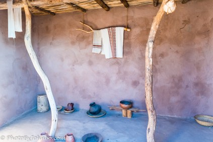 Recreation of a Hohokam residence.