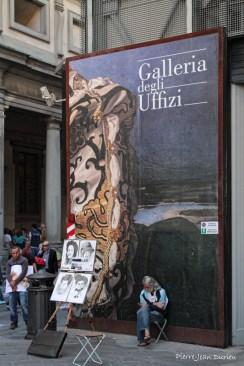 Dessinateurs à la Galleria degli Uffizi, Florence, 12 Septembre 2015