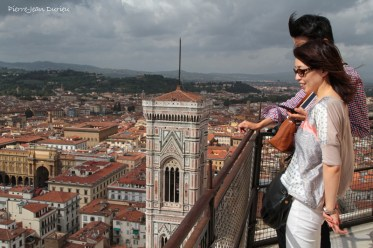 Touristes au sommet du Duomo, Florence, 14 Septembre 2015