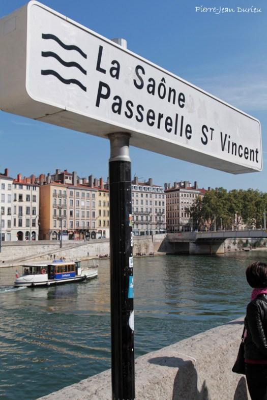 Passerelle Saint-Vincent et Vaporetto