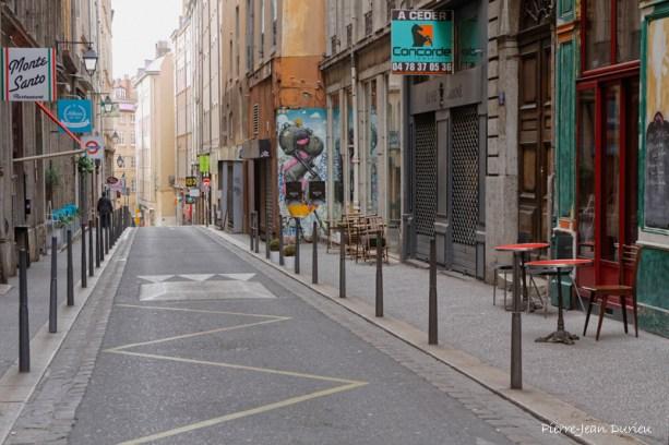 Une rue sur le bas de la Croix-Rousse