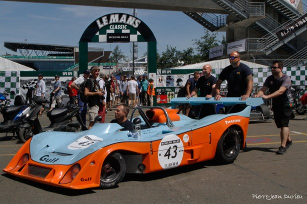 Gulf Mirage, sortie de paddock, Le Mans, 10 juillet 2016