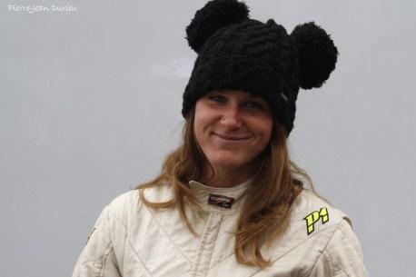 Un beau sourire de Sarah Louvet, une excellente pilote de monoplace, Chamrousse, Août 2016