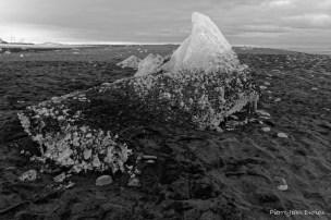 Glaçon sur la plage, Islande, Mars 2016