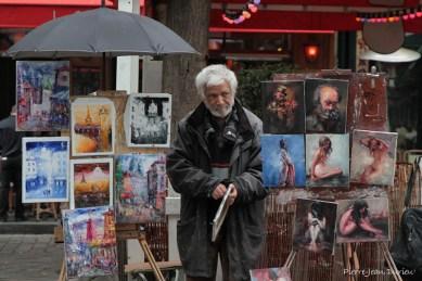 Artiste à Montmartre, Paris, Septembre 2014