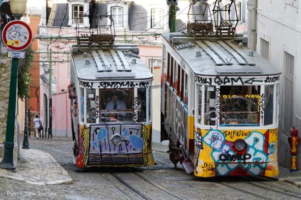 Funiculaire de Gloria, Lisbonne, Avril 2017