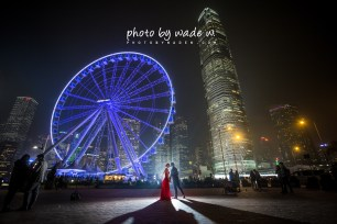 Pre-wedding Hong Kong Photo by Wade w. 中環 摩天輪 自助婚紗 香港