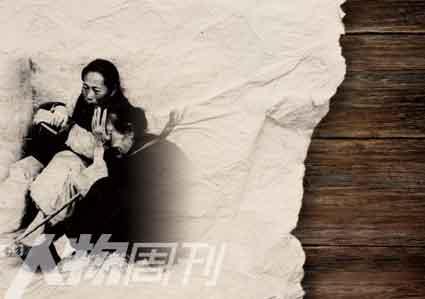 1962年,路边饥饿的灾民