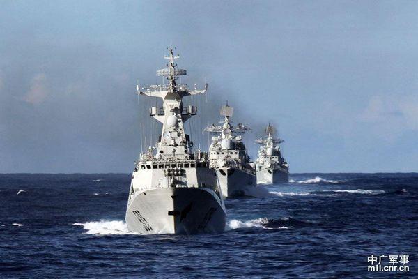 資料圖:中國海軍編隊在釣魚島附近海域巡航。