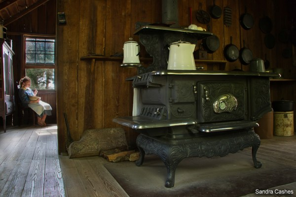 Kitchen Time by Sandra Cashes - Dudley Farm Historic State Park