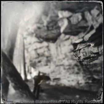 Foreground rock in focus