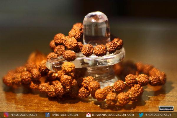 Shivling with Rudraksha