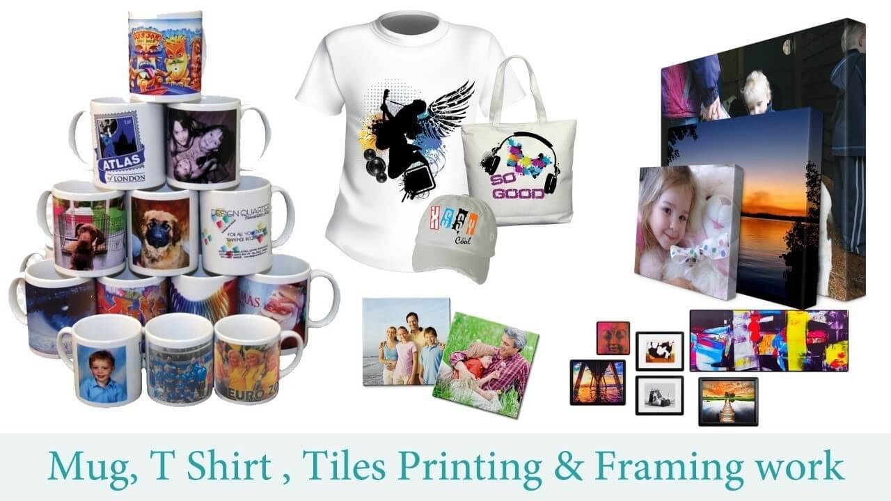 Mug Printing - TShirt Printing - Photo Frame Printing - at PhotoClickClub