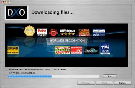 Downloading lens types