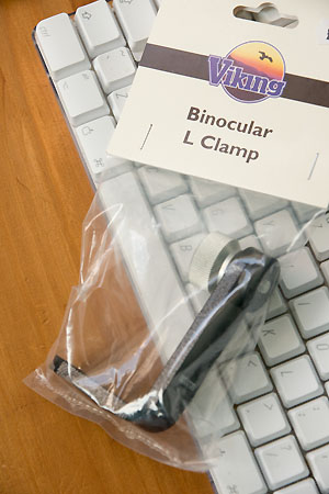 Viking binocular clamp
