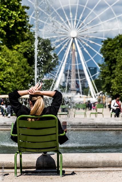 Détente au jardin des tuileries